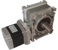 NMRV030 Worm Gearbox Ratio 30:1 Geared NEMA23 1.1NM Stepper Motor CNC kit