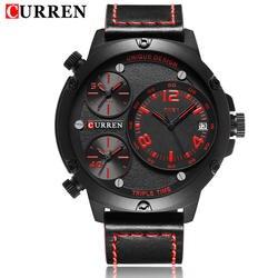 Роскошные CURREN Марка Военная Униформа Часы Для мужчин аналоговые кварцевые кожа часы человек Спортивные Часы Армии несколько часовых