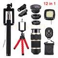 2017 12in1 Kit Telefone Camera Lens 8x Zoom Telefoto Lentes 3 em 1 fish eye fisheye wide angle lens macro para moto asus zte xiaomi