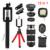 2017 Teléfono 12in1 Kit de 8x de Zoom de la Lente de La Cámara Teleobjetivo Lentes 3 en 1 ojo de pez ojo de pez gran angular lente macro para moto asus zte xiaomi