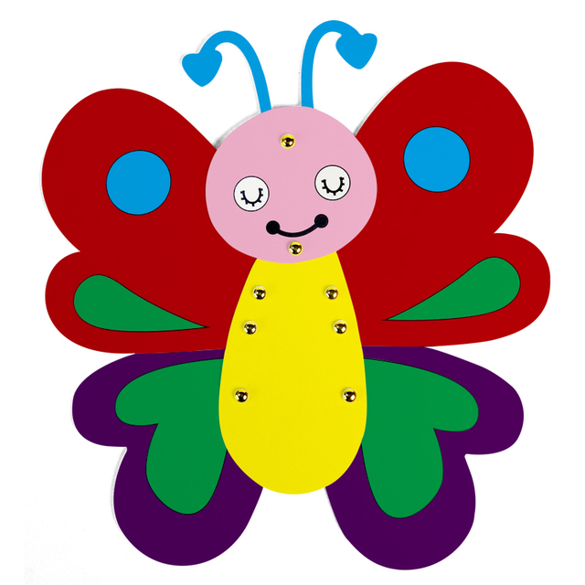 Draw Art Set Kids Craft Cartoon Butterfly Painting Cardboard Drawing ...
