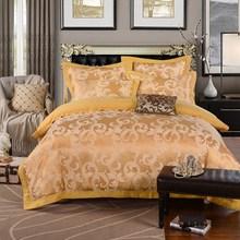Embroidered Luxury Royal Noble Palace Satin Tencel Jacquard 4PCS BEDDING SET Velvet Bedclothes Hotel BED SETS Bedlinen Bed Sheet