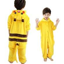 Children Cartoon Pajamas Boys Pikachu Long Sleeve Baby Girls Boys Clothes Pokemon Nightgown Pyjamas Cute Kids