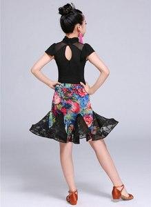 Image 5 - 2 adet Setleri Kız Latin Dans Elbise Kızlar Için Balo Salonu Dans Elbise Kız Rekabet Giyim Çocuklar Çocuk Dans Kostümleri Set