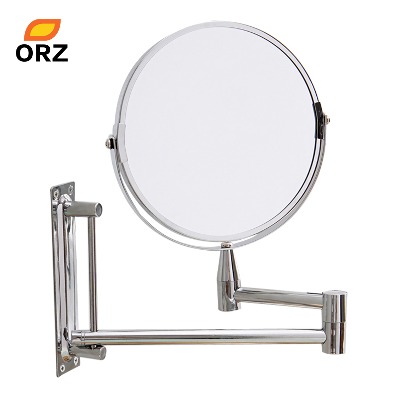 ORZ Specchio A Parete Estendere Double Side Bagno Cosmetico di Trucco Da Barba Faccia Rotatalbe 7