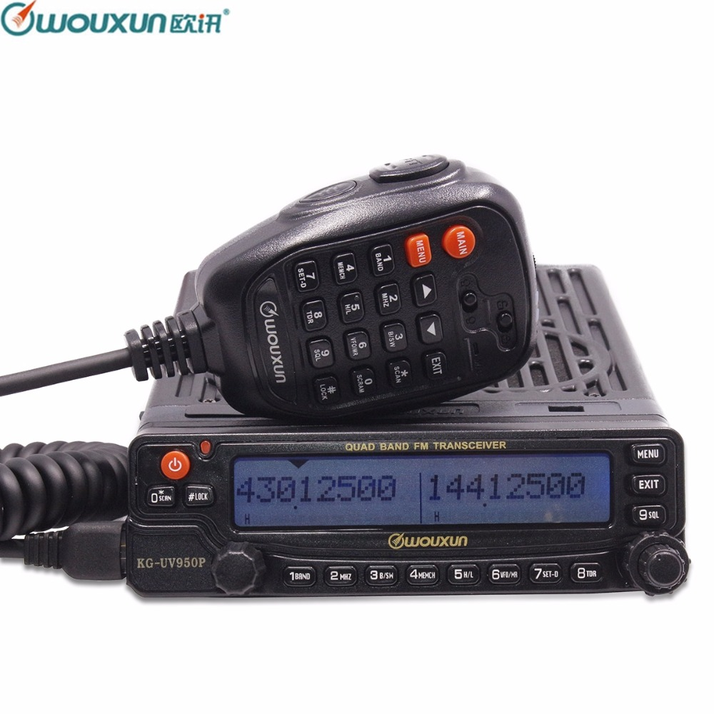 Wouxun KG UV950P Quad Bands Transmission Eight Bands Reception High Power Output Mobile Transceiver With Multi Functions Radio