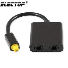Digital SPDIF Optical Audio Splitter 2 Way Toslink Splitter Adapter 1 input 2 Output SPDIF Optical Cable Splitter Hub for CD DVD