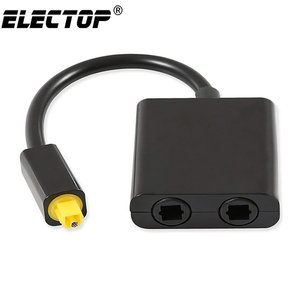 Digital SPDIF Optical Audio Splitter 2 Way Toslink Splitter Adapter 1 input 2 Output SPDIF Optical Cable Splitter Hub for CD DVD(China)
