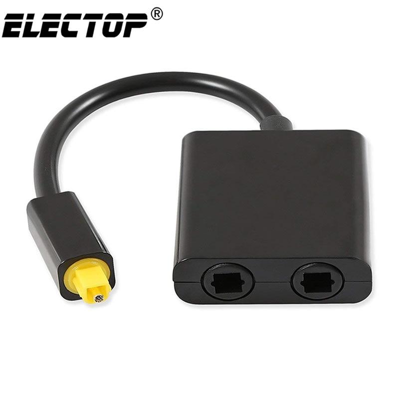Divisor de áudio óptico de digitas spdif 2 vias toslink divisor adaptador 1 entrada 2 saída spdif cabo óptico divisor hub para cd dvd