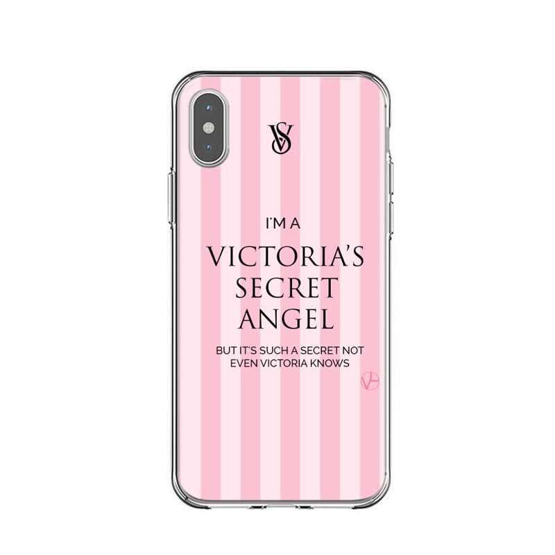 wholesale dealer 29316 36cc1 Victoria Secret Striped Case For iphone X 7 8 Plus 6 6S Plus 5S SE VS PINK  Soft TPU Phone Cases Cover For iPhone XS MAX XR Xs