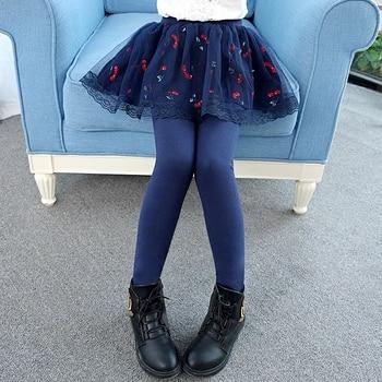 b043c7f0b Primavera otoño 2018 nuevas polainas para niñas falda-Pantalones chico moda  falda pastel Niña ...