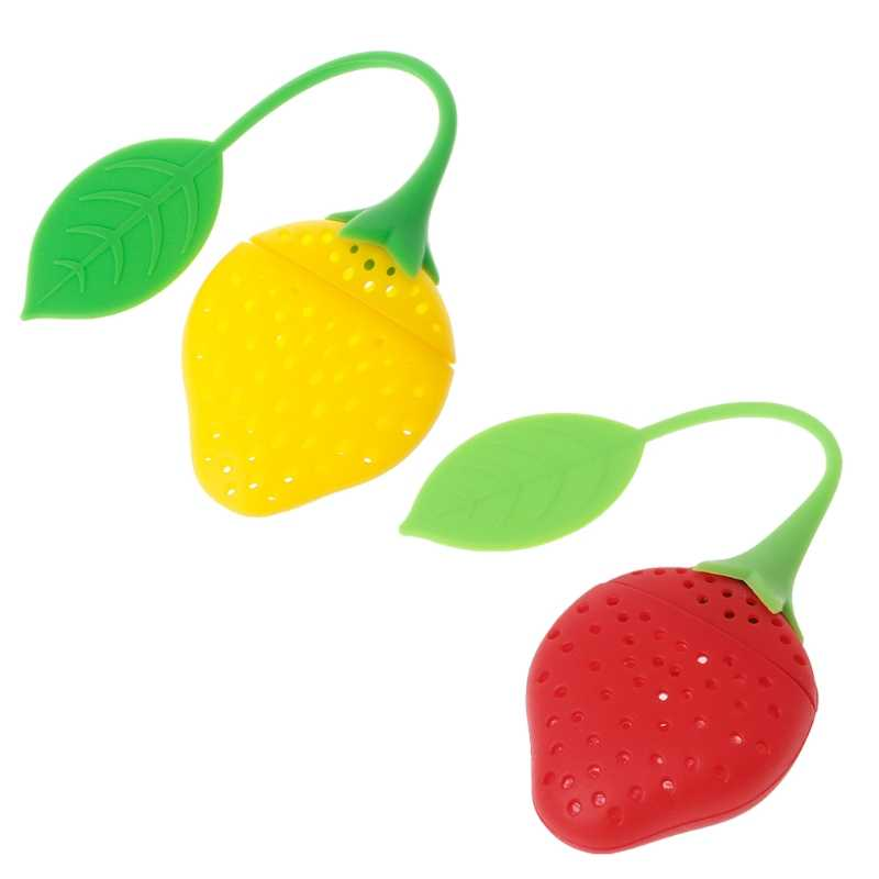 5/10x Silicone Strawberry Tea Leaf Strainer Herbal Spice Infuser Filter Diffuser