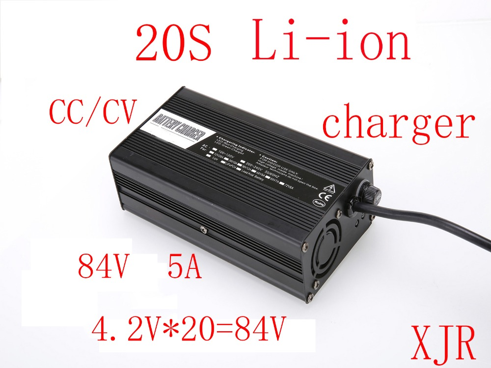 84V 5A charger for 20S lipo lithium Polymer Li ion battery pack smart charger support CC