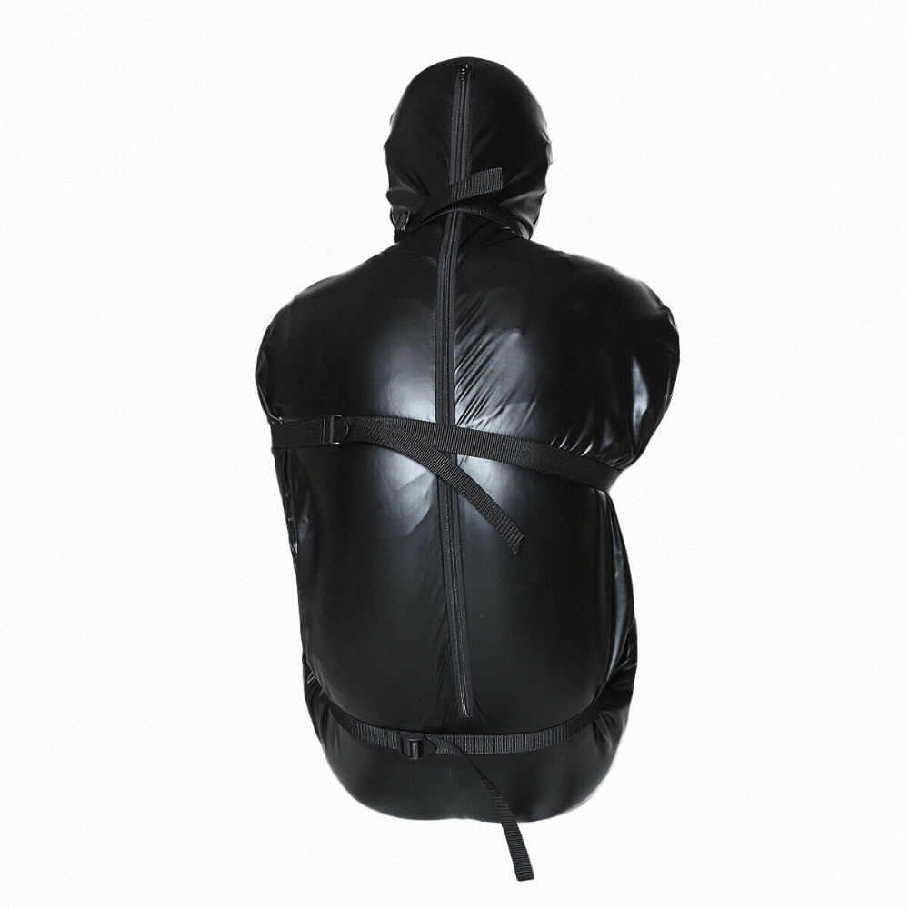 Unisex Mummy Suit Outfit ArmBinder Costumes Bed Restraint Full Body Straight Harness Sex Toy For Women Cosplay BDSM Hood Mask in Bondage Gear from Beauty Health
