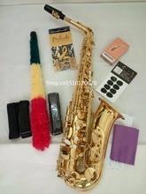 11.11Best Selling French Henri Selmer Paris Alto Saxophone 802 E Flat Electrophoresis Gold Saxe Top Musical Instrument Gold key