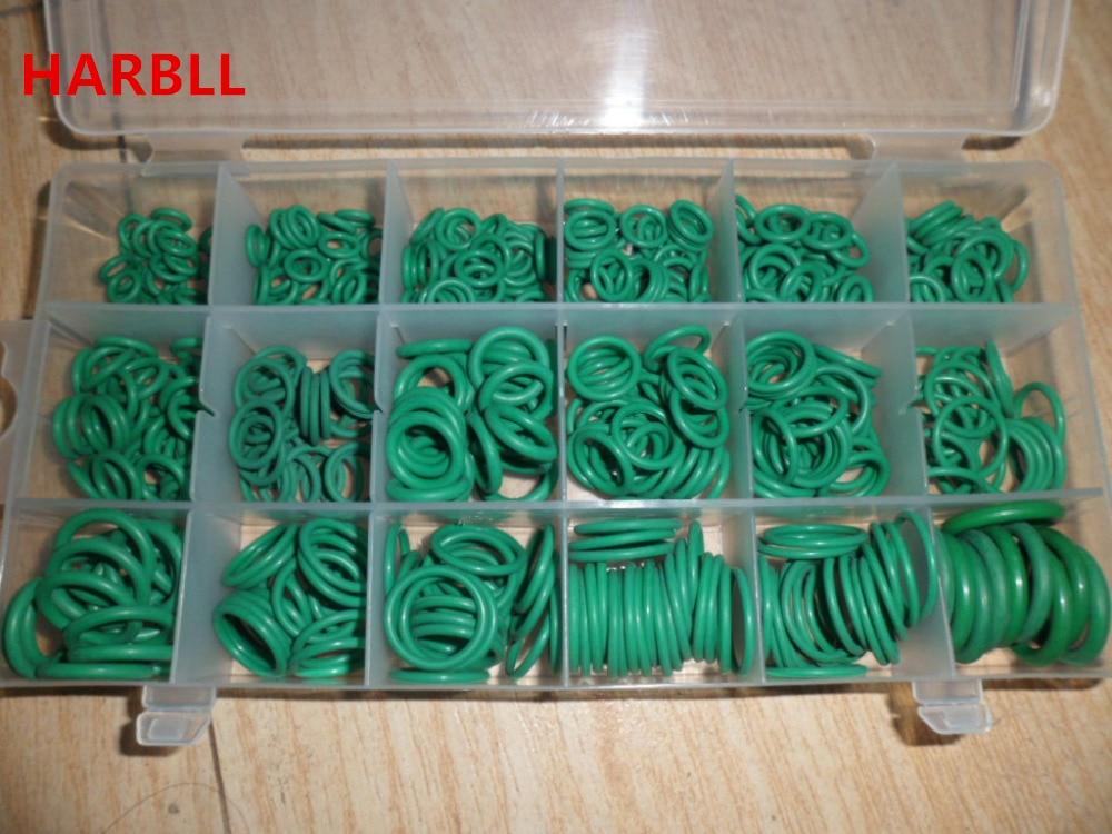 Harbll 530 шт. автомобиля r134a автомобиля уплотнительным кольцом Ремонт автомобильной кондиционер ремонт резиновый уплотнитель Box Set