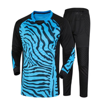 New Padded Kids Surveteme Football Goalkeeper Kits Protector Men Soccer Training Suits Team Football GoalKeeper Jersey