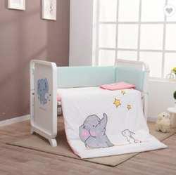 Качественная детская кроватка из дерева натуральный белый цвет стол с многофункциональными функциями