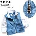 Nueva ropa del bebé 2014 niños chaquetas abrigos de primavera chicos abrigo de otoño superior cardigan niño de manga larga bebé prendas de vestir exteriores
