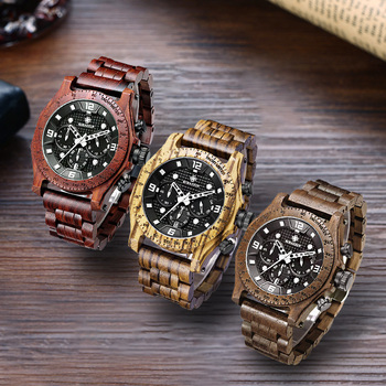 Vintage Watches For Men | Wooden Watch Men Waterproof Luxury Vintage Unique Stop Chronograph 2018 Role Digital Male Quartz Watch Sport Boyfriend Hour Gift