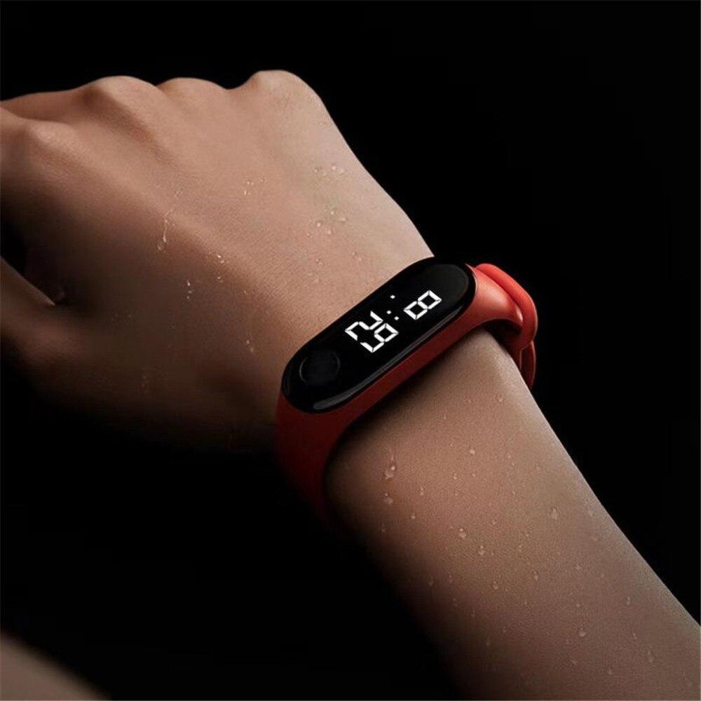 New Product Men's Bracelet Watch Unisex Casual Sports LED Electronic Luminous Sensor Watch Women And Man Waterproof Clock Gift#A