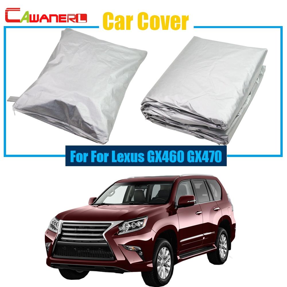 Cawanerl Full Car Cover Sun Shade Anti-UV Snow Rain Sun Resistant Protection Cover For Lexus GX Series GX460 GX470