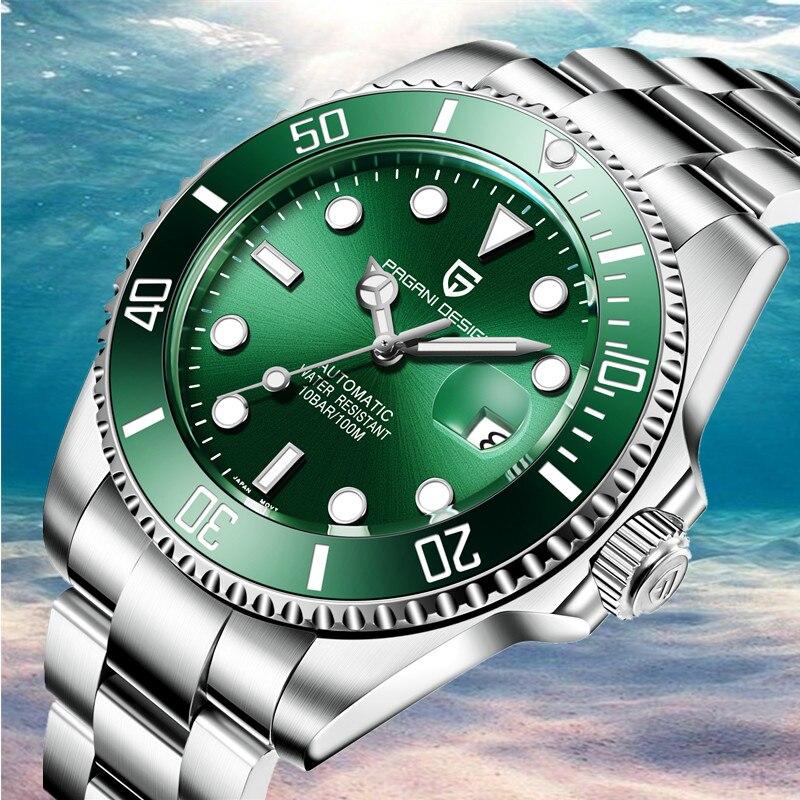 PAGANI DESIGN 2019 New Business Luxury Stainless Steel Men Watch Fashion Sport High Quality Mechanical Watch Relogio Masculino