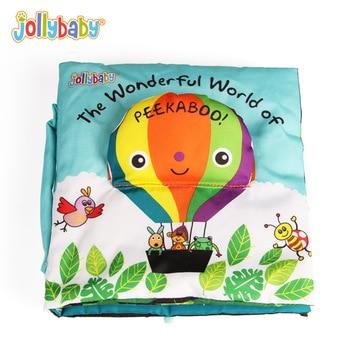Jollybaby Baby Boek Kinderen Activiteit Soft Quiet Doek Boeken Voor Kinderen Peek A Boo Educatief Spel Verhaal Zuigeling Boeken Speelgoed gift