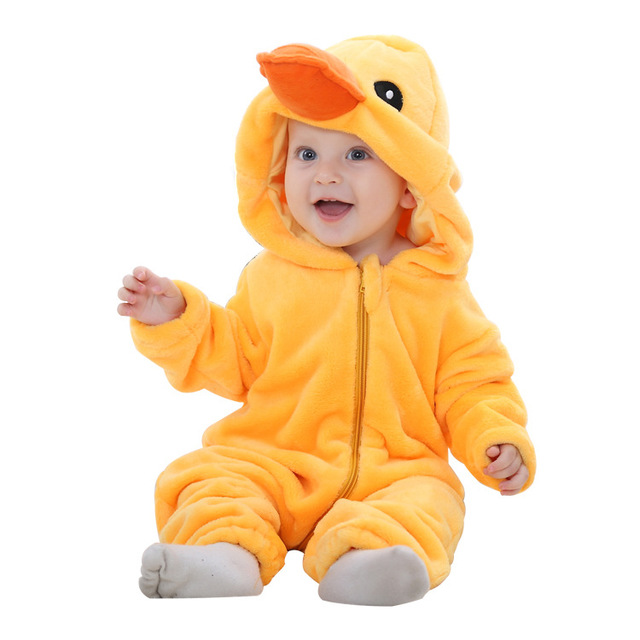 Año nuevo Mamelucos Del Bebé Recién Nacido de Invierno de Franela Puntada Animal Bebé Ropa Mono Traje Niña Traje Mamelucos Animales