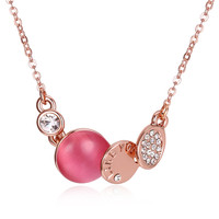 Romantic Lime You Pendants Necklaces Girls Body Chain Rose Gold Crystal Zircon Bohemian Necklace For Women