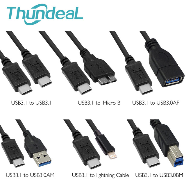 7f053e00f59 Aliexpress.com : Buy 3Ft/1M USB 3.1 Type C Cable to USB 3.0 Male ...