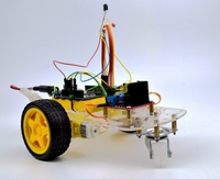 DIY Smart Car 98 Vehicle Car Chassis With infrared receiving head + infrared remote control Robbot Chassis