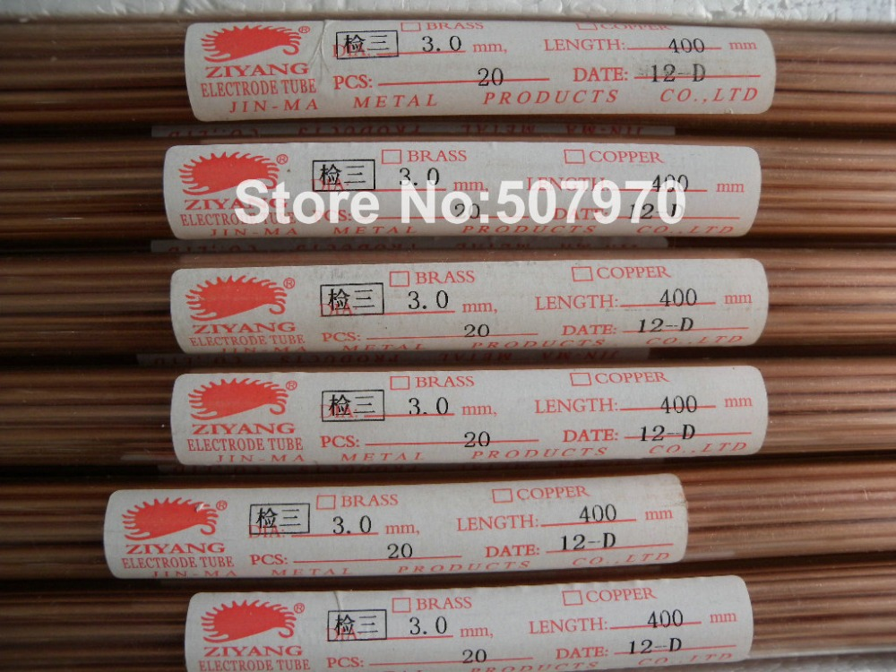 Ziyang Copper Electrode Tube Single Hole3.0*400mm for EDM Drilling Machine