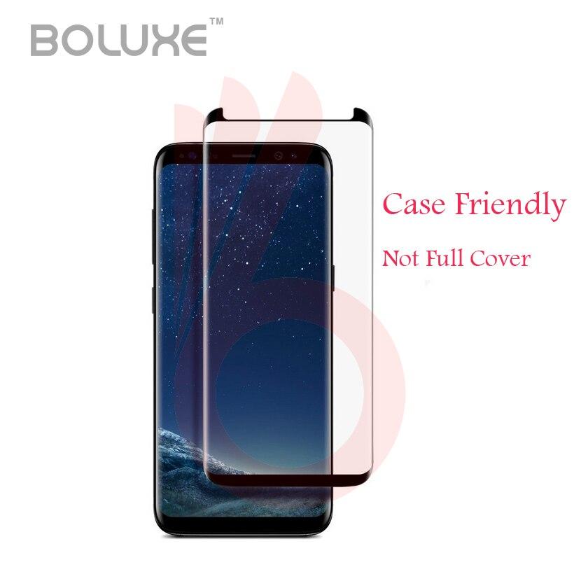 imágenes para 10 Unids/lote Para Galaxy S8 Caso 3D S8 + S8, además De Vidrio Curva de Vidrio Templado Protector de Pantalla Protege la Película