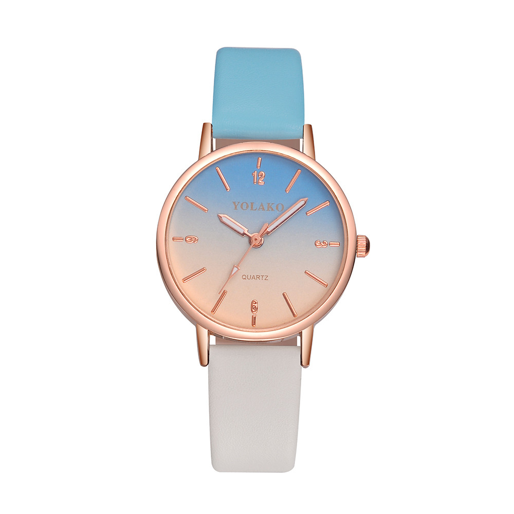 Hot Sale  Elegant Women Fashion Clock Ladies Casual Quartz Leather Strap Scale Dial Wristwatch Dress Gift Relojes Para Mujer@50