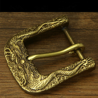 Retail New Style High Quality Solid Brass Cool 3D Double Dragon Belt Buckle For 4 0cm