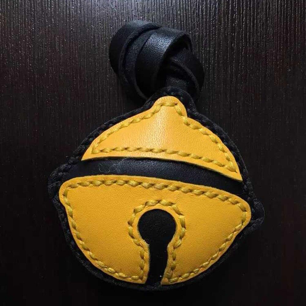Artisanat cuir bricolage cloche forme porte-clés décoration découpe couteau moule main poinçon outil modèle