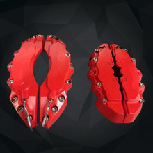 Buy online High quality ABS plastic brake caliper cover , universal brake decoration cover , front and rear wheel 4pcs