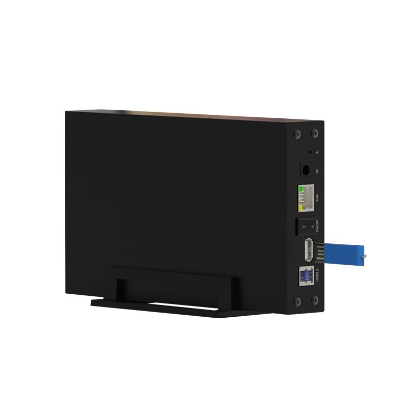 Boîtier NAS hdd 3.5 ''sata RJ45 USB3.0 accès HDD sans fil en LAN plus rapide et plus stable que WiFi cloud personnel HDD 10-15 M/S