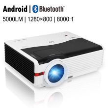 CAIWEI Android Blurtooth Wifi LED Projector 1080p HD Home Movie Video font b Smart b font