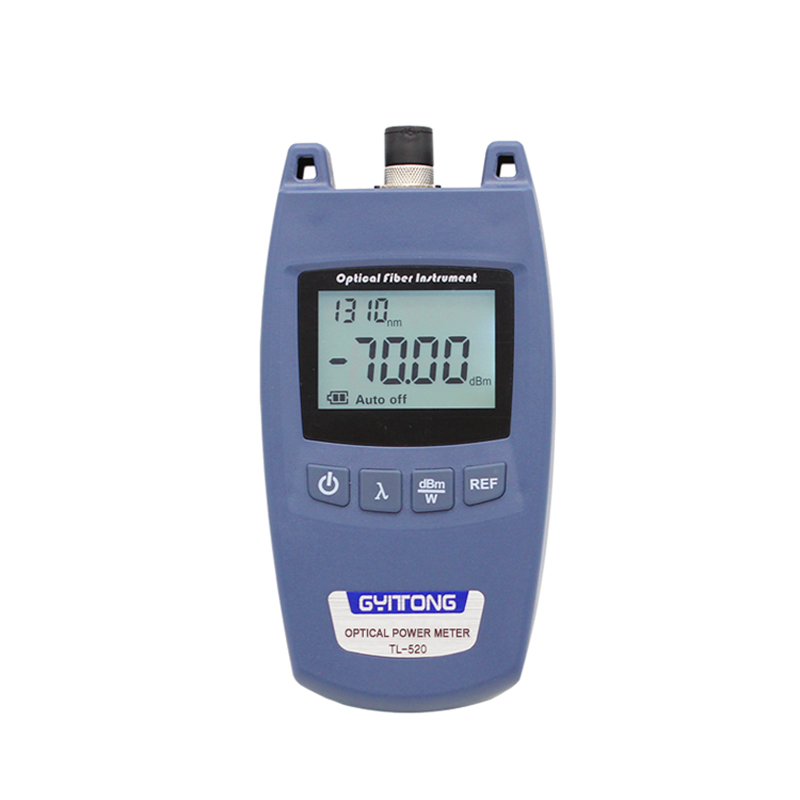 Handheld MINI TL520 FTTH Fiber Optic Power Meter With FC Universal Connector TL520 Laser Power Meter Fiber Optic Tester