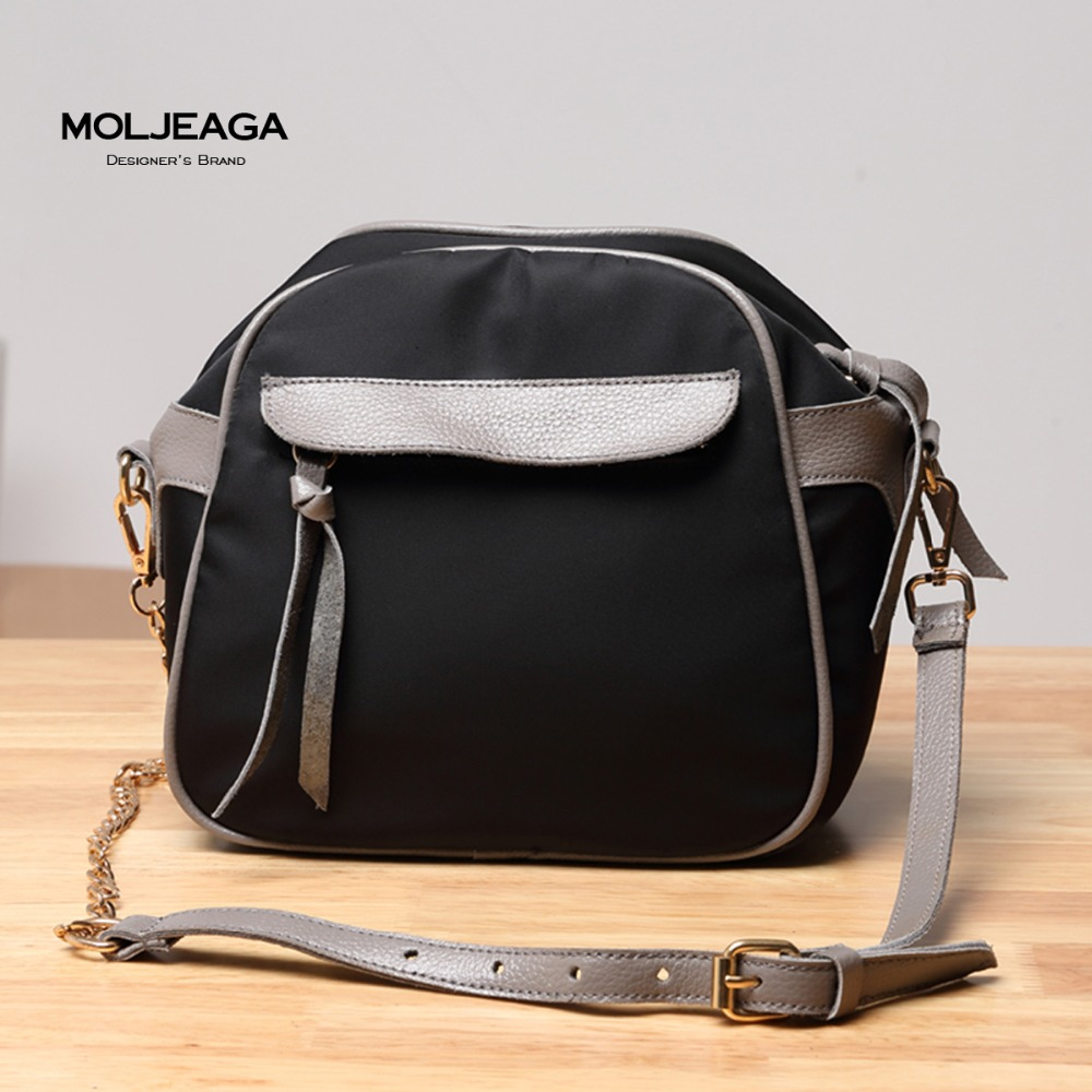 MOLJEAGA Brand Fashion Women Handbags Canvas Nylon Oxford Shoulder Crossbody Bags Casual Totes Contrast Patchwork Girl Travel