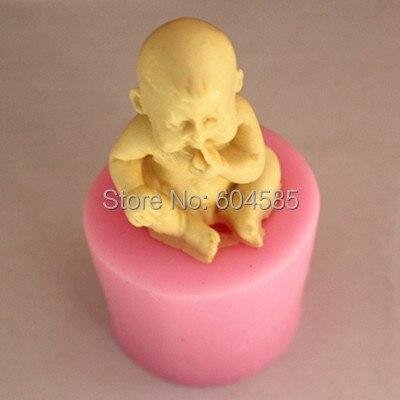 Ребенок сидит кусает палец силиконовые обледенения плесень для украшения торта, антипригарным сахарной пасты, шоколад,