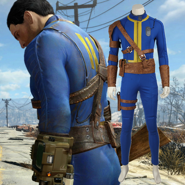 pc game fallout 4 nate costume cosplay adult men male sole survivor nate suit halloween costume