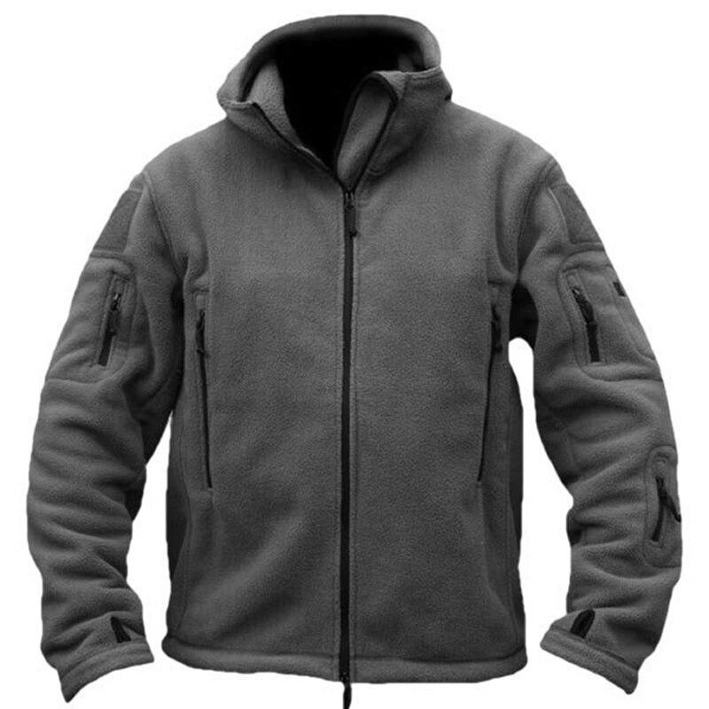 Pria Taktis Militer Musim Dingin Bulu Berkerudung Jaket Softshell - Pakaian Pria - Foto 4