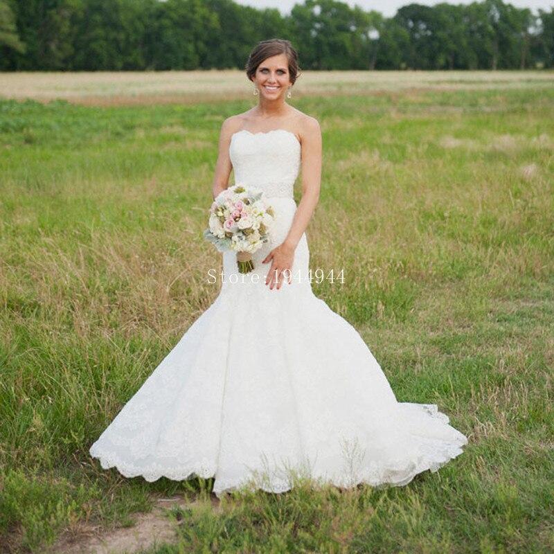 French Lace Mermaid Wedding Dress: Sweetheart Beaded Wedding Dress Mermaid Trumpet French