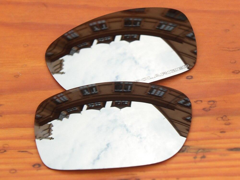 Chrome серебряное зеркало Поляризованные замены линзы для питбуль солнцезащитные очки кадр 100% UVA и UVB Защита