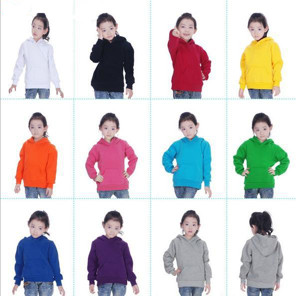 Girls Hoodies Winter Warm Sweater Plain Thicken 400g Fleece ...
