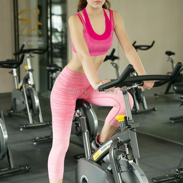 50pcs/lot Professional Mesh Women Fake Two-piece Hot Sexy Push-up Bra Fitness Bra Workout Top Bra