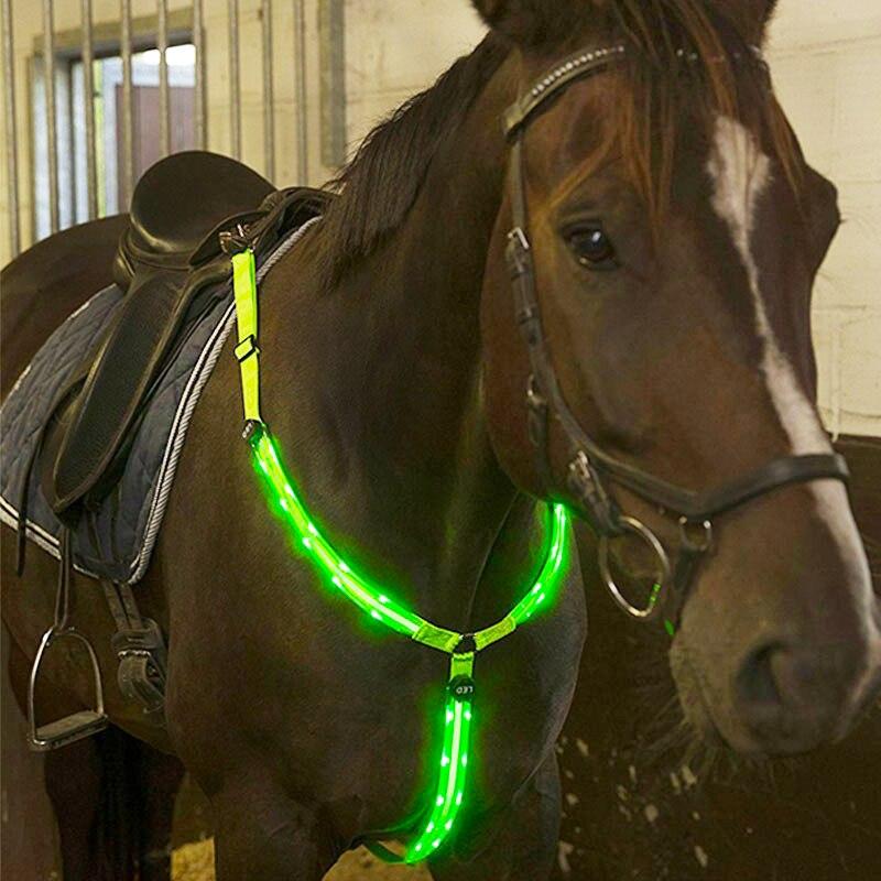 MOYLOR Cavalo Peitoral LED Duplo Equipamento de Equitação Corrida de Equitação Cavalo Harness Nylon Noite Visível Cheval Cinto C